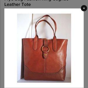 Nwt Frye cognac ring tote handbag Leather
